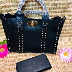 Handbags - Black Purse with wallet